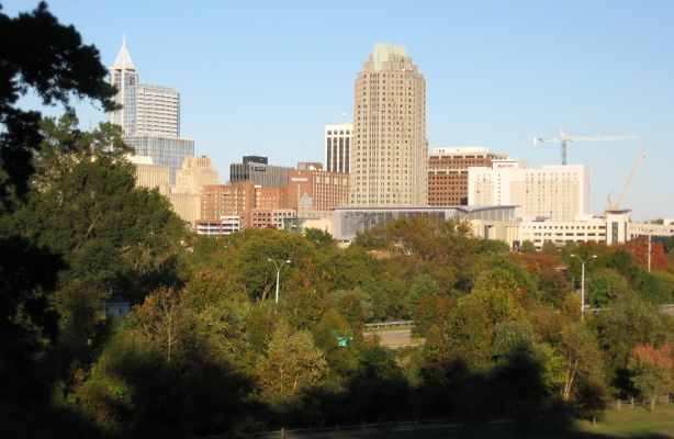 Raleigh from Dix Hill