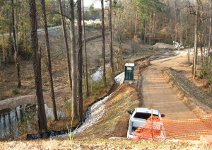 House Creek greenway construction