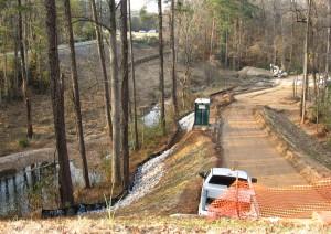 House Creek greenway construction