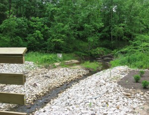 House Creek tributary joins at Lake Boone