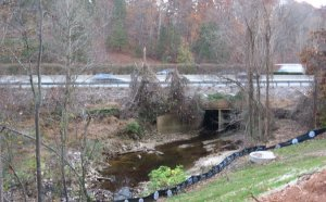 House creek Crosses the Beltline
