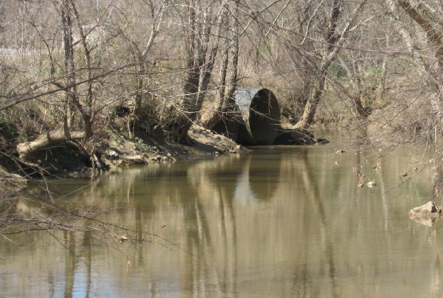 House Creek enters Crabtree_1_1