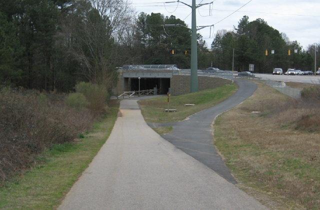 Ridge Road Connectors meets Meredith greenway