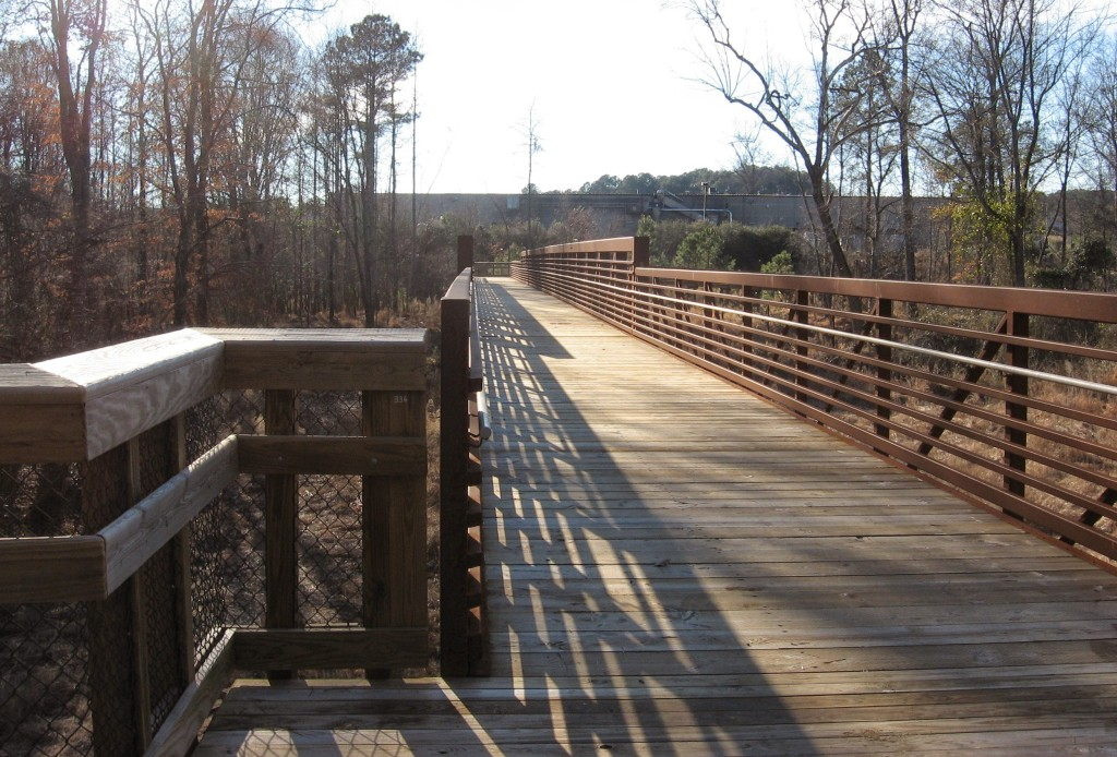 Crabtree Trail crosses the creek at Anderson Point